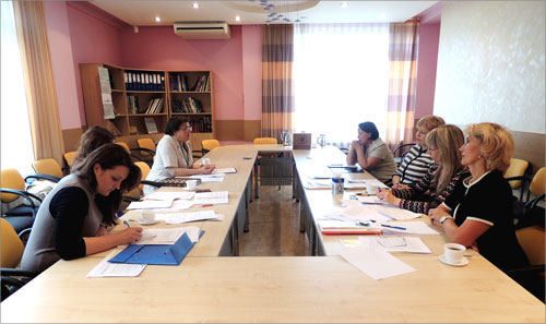 Meeting over gender equality statistics